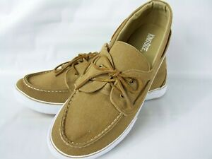 King Size Casual Lightweight Khaki Canvas Boat Shoes Wide Fit Size 15W New