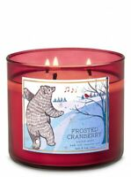 Bath & Body Works FROSTED CRANBERRY 3-Wick Large Scented Candle 2020 WINTER Gift