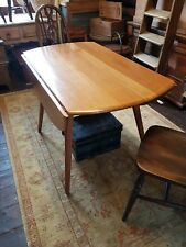 ERCOL BLONDE SOLID ELM AND BEECH OVAL DROP LEAF DINING TABLE - DELIVERY OPTION