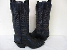 Sanders Blue Leather Bullhide Cowboy Boots Womens Size 6 A