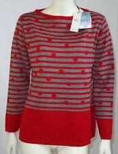 maglia donna invernale 50% lana vergine riga rosso grigio RICCI & CAPRICCI