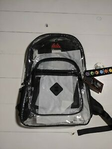 Clear Transparent Backpack Heavy Duty Multi Pocket Outdoor Concert School