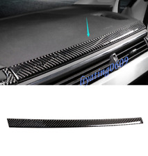 Real Carbon Fiber Dashboard Decorative Strip Trim For Audi A4 B9 2017 2018