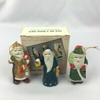 Set of 3 Wise Men Hand Painted Porcelain Figures Ornaments VMI w Original Box