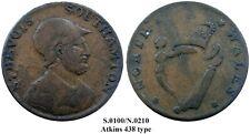 1790s British EVASION Copper, Atkins 438 type, Sir Bevois/NORTH WALES, VF