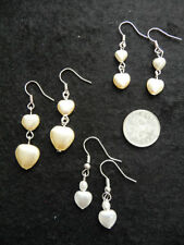 Pearl Heart Drop/Dangle Costume Earrings