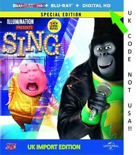 Sing (2016) Limited Special Edition ** SteelBook ** Region Free UK Import
