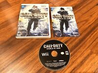 Call of Duty: World at War (Nintendo Wii, 2008) Complete W/ Manual CIB D3