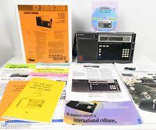 Sony ICF-2010 Shortwave Radio AM FM SSB CW Receiver w/ Wonderful Documentation