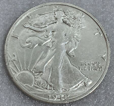1942-S WALKING LIBERTY SILVER HALF DOLLAR AU+ Free Shipping With Five Items B Sl