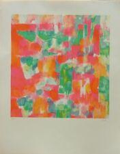 Daniel RAVEL (1915-2002) Lithographie signée & justifiée 1974 Abstrait Tachisme