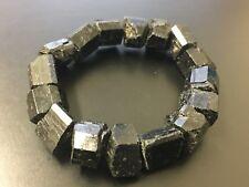 Black Tourmaline Bracelet Stretchy Rough Tourmaline Stone Specimen Reiki Chakra.