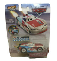 DIsney Pixar Cars XRS Rocket Racing PAUL CONREV WITH BLAST WALL
