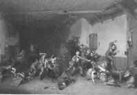 SCOTLAND Tavern Scene Blind Man's Bluff - Wilkie SUPERB 1860 Antique Print