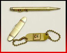 Vintage Brass CHRYSLER PLYMOUTH Key Chain Fob Pocketknife Mechanical Pencil