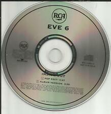 EVE 6 Inside Out RARE POP EDIT VERSION 2TRX PROMO DJ CD Single 1999 MINT USA