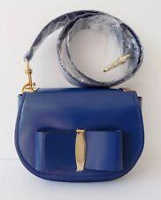Salvatore Ferragamo – Anna Leather Saddle Bag Pacific Blue 1300c41228e70