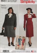 Simplicity Sewing Pattern 8461 Misses Vintage Skirt Jacket Size 20W-28W