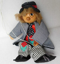 String puppet tramp clown wooden marionette Traditional toy decorative ornament