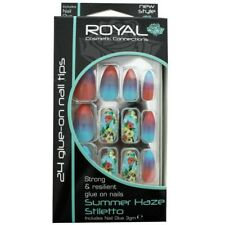 Royal False Nails - Summer Haze Stiletto 24 Nails Including 3gm Nail Glue
