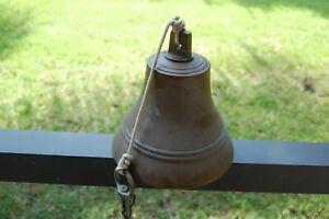 Vintage Cast Bronze Maritime Bell Heavy Great Ring Super Dinner/Farm  Bell LOOK!