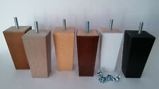 4 x WOODEN FURNITURE FEET/LEGS FOR SOFA, CHAIRS, STOOLS, CHEST - M8