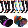 1Pair Knee High Graduated Compression Socks Men Women Stocking Fit for Diabetics