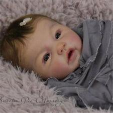 "DIY Dolls 20"" Reborn Baby Doll Kits Unpainted Silicone Limbs Eyes Cloth Body"