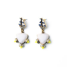 NEW Urban Anthropolo​​gie Sailor Nautica Blue Yellow Gemmed Earrings
