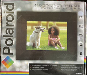 Polaroid 8 Inch Digital Picture Frame Candlenut Distressed Wood PDF 800cd