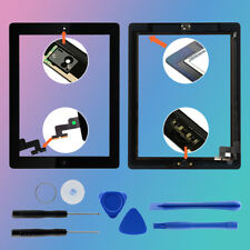 Touch Screen Digitizer Replacement + Home For iPad 2  Black A1395 A1396 A1397