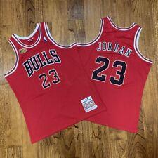 🔥 100% Authentic Michael jordan Jersey #23 Chicago Bulls Retro Classic Swingman