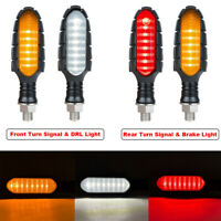 Motorcycle LED Turn Signal Sequential Flowing Indicator Brake Running DRL Light