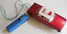 VINTAGE TIN TOY CAR FIRE CHIEF CHINA ME 702 GIOCATTOLI LATTA BATTERY OPERATED