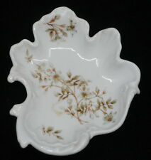 OLD HERMANN OHME GERMAN PORCELAIN CANDY, PIN DISH w BLOSSOMS