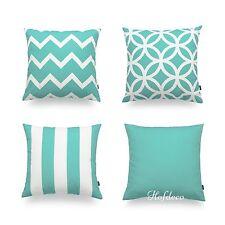 Decorative Cushion Geometric Cover Aqua Turquoise Sea Coastal Beach Car Decor 18
