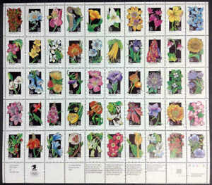 US Stamp - 1992 Wildflowers Sheet of 50 Stamps Scott #2647-96