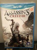 Assassin's Creed III 3 | Nintendo Wii U | NEW SEALED