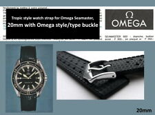 20mm Tropic type watch strap for Omega Seamaster. Silicone rubber dive band