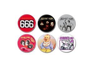 6 X Aphrodite's Child buttons (badges, 666, vinyl, singles, tshirt, progressive)