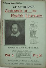 Patrick, D (ed) 1901-03 Chamber's Cyclopaedia of English Literature Parts 1-53