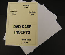 250 Sheets Of 120gsm Inkjet Printable Matt DVD Library Case Inserts Inlays