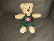 Hallmark Bear Wearing Green Overalls