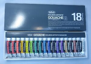 Holbein Artists' Gouache Set of 18 Colors 5ml Each New Open Box