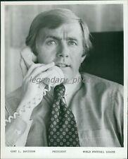 1973 Gary Davidson World Football League Founder Original News Service Photo