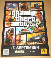 Grand Theft Auto V GTA 5 promo German Poster Double sided 30x21cm xbox 360 PS3
