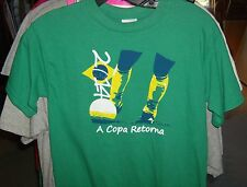 Soccer T Shirt  Brasil The Cup Returns Youth Large