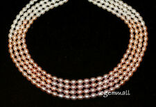 "Natural Multicolor Freshwater Pearl Rice Oval 6-7mm 17.8"" #66079"