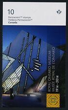 Canada 2726a Booklet MNH - Royal Ontario Museum, Dinosaur, Art