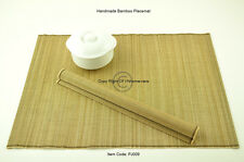 4 Fine Quality Handmade Placemats Table Mats, Large Size, Light Brown PJ009